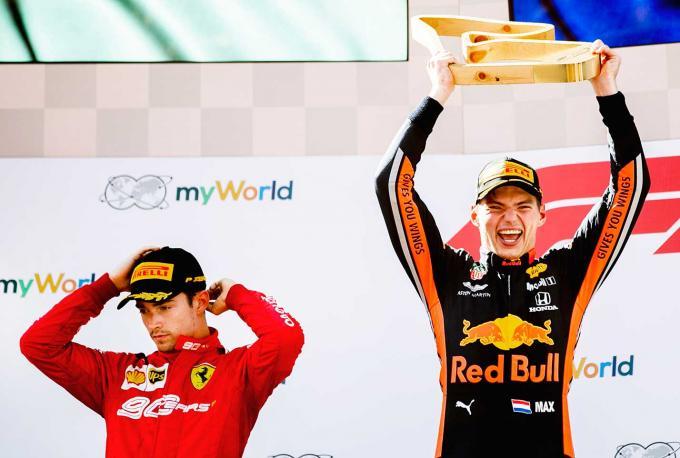 Max Verstappen wint F1 Grand Prix van Oostenrijk. Foto: Remko de Waal