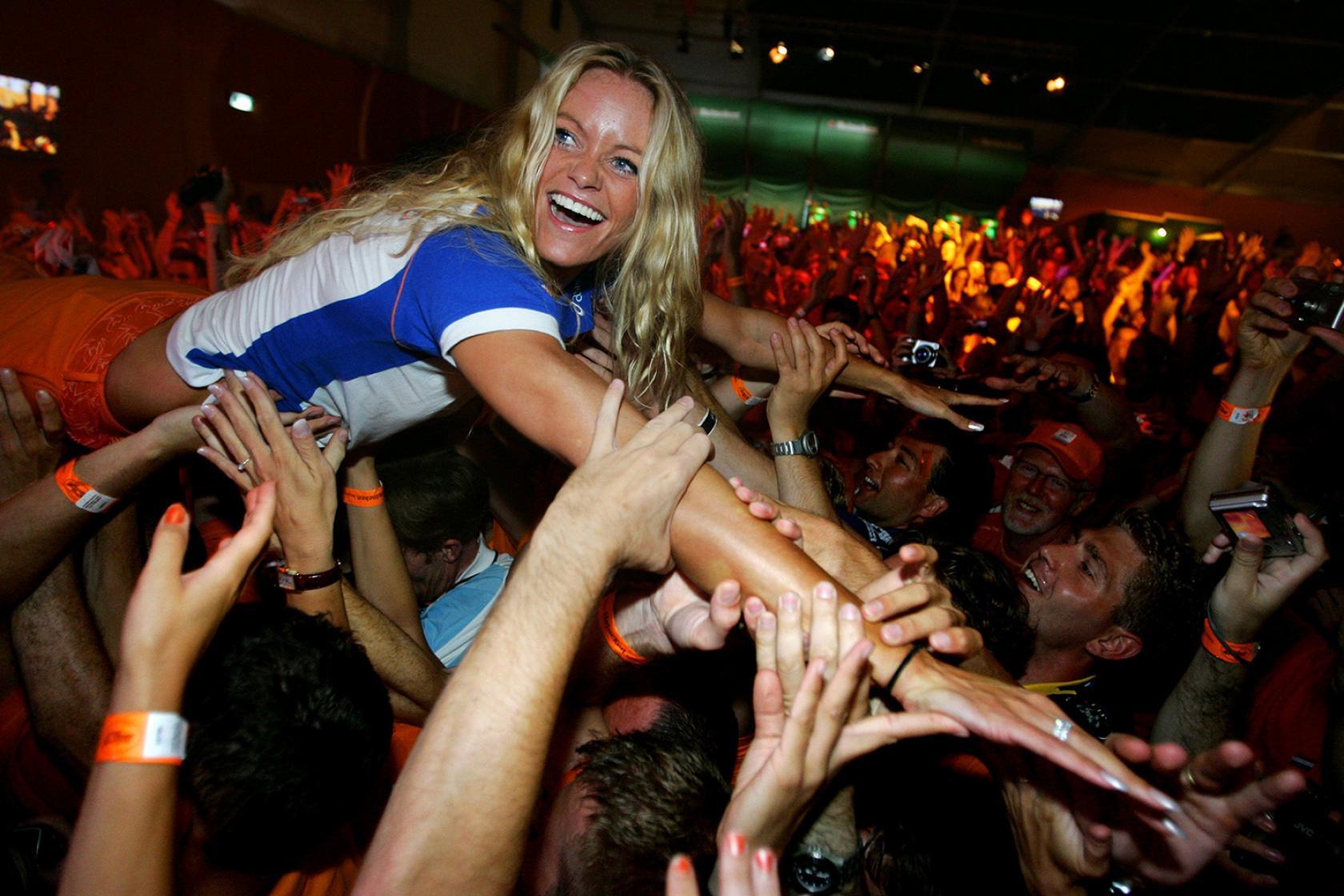 Zwemster Inge de Bruijn Holland Heineken House Olympische Spelen Athene