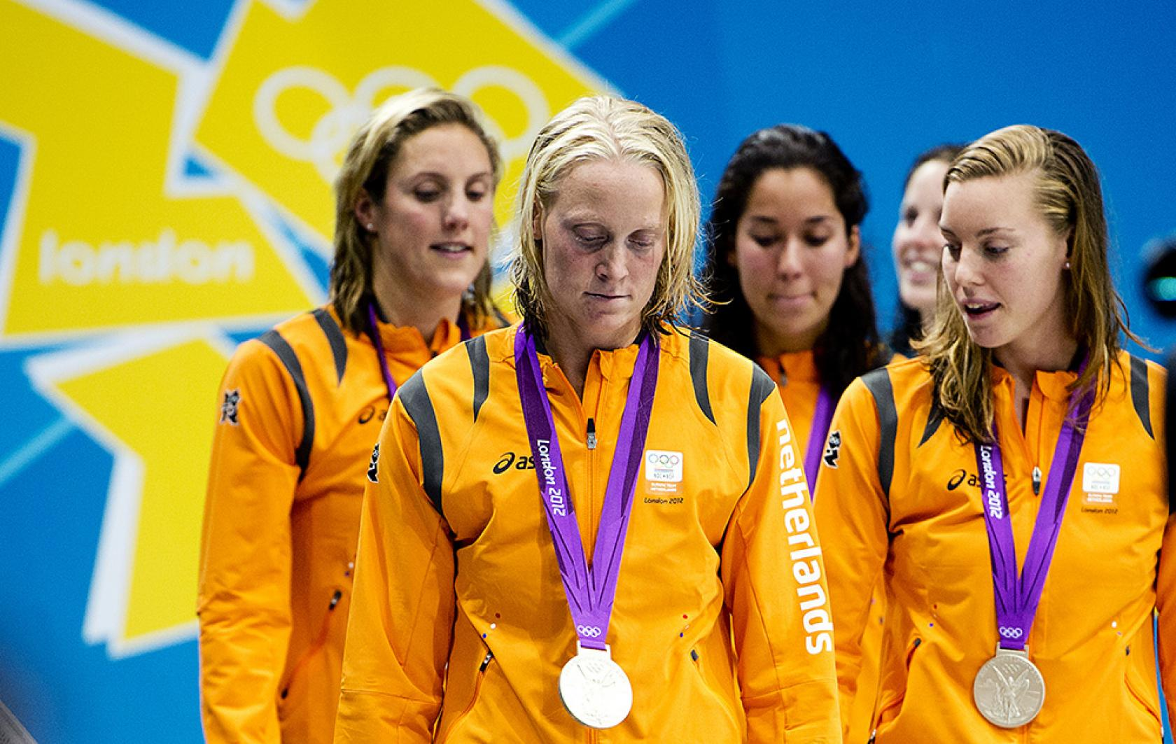 Zilver estafettezwemsters Olympische Spelen in Londen
