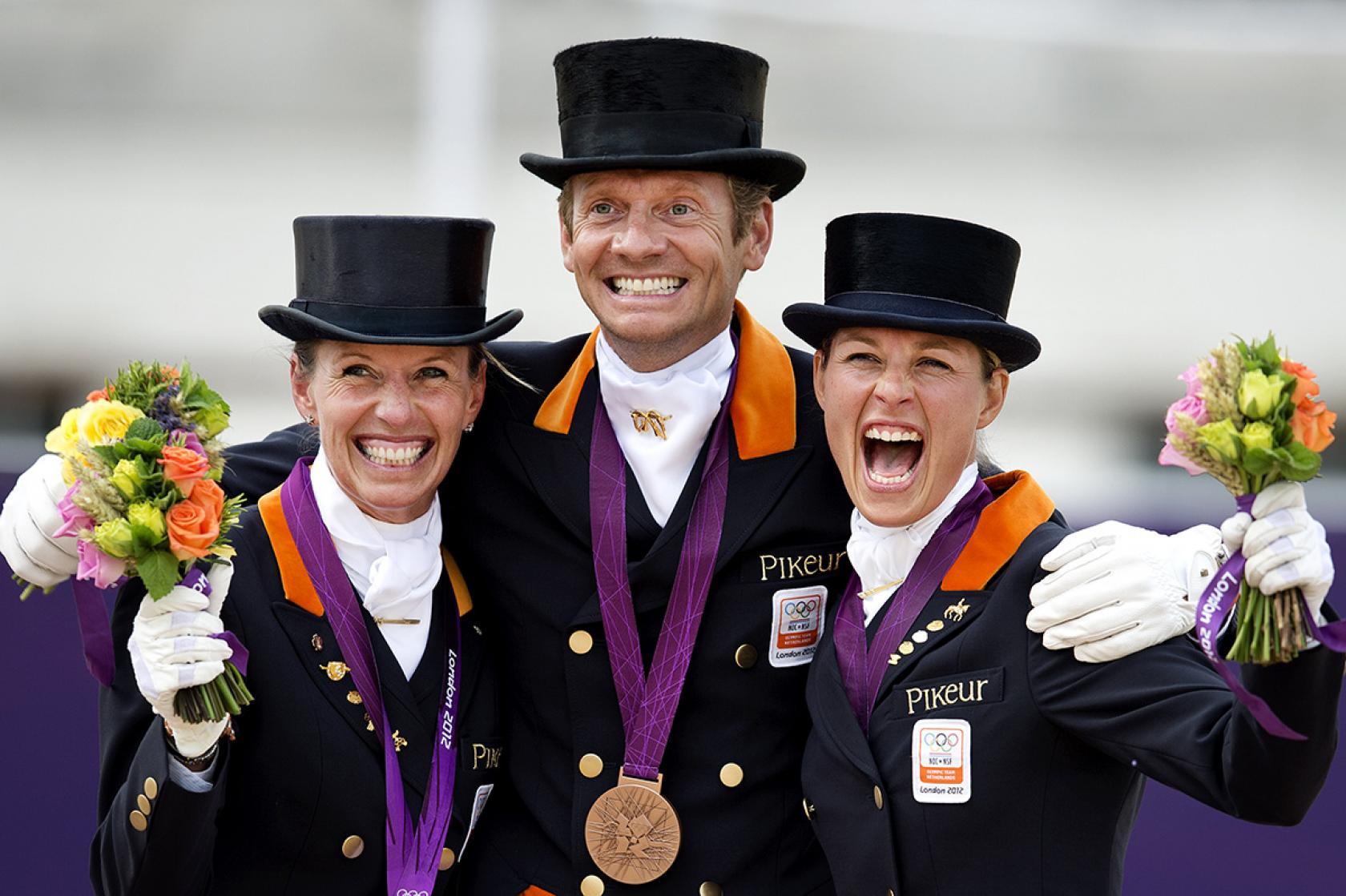 Dressuurwedstrijd ruiters brons Olympische Spelen Londen
