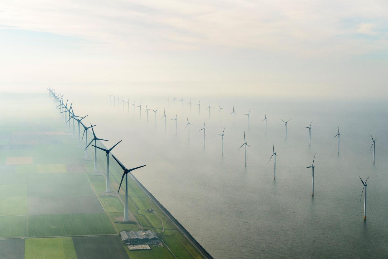 Windpark Noordoostpolder. Foto: Siebe Swart