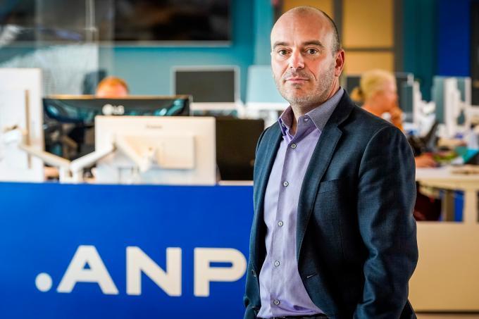Hoofdredacteur Freek Staps op de ANP-redactie. Foto: ANP / Lex van Lieshout