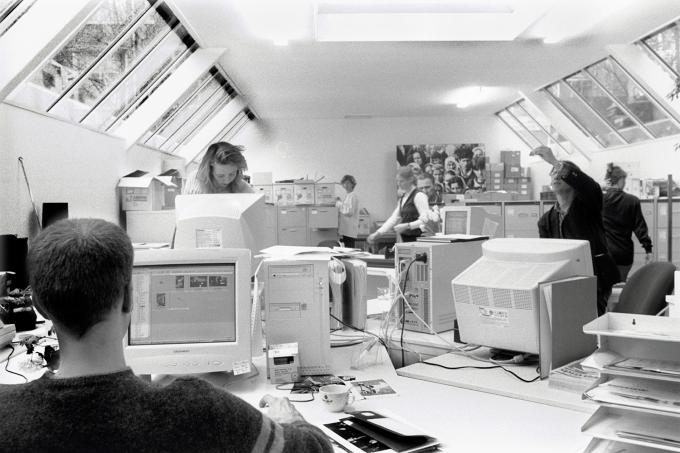 Het kantoor van Hollandse Hoogte in 1999. Foto: Chris de Bode