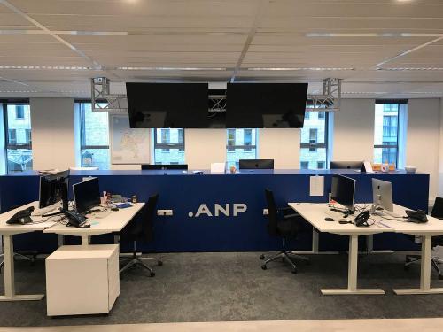 De lege fotoredactie van het ANP in Den Haag
