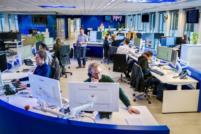 De redactie van het ANP in Den Haag.