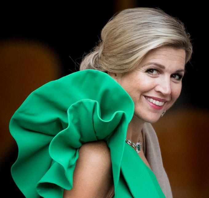 Koningin Máxima op Paleis Noordeinde tijdens het galadiner voor de Raad van State in 2017. ANP / Robin Utrecht