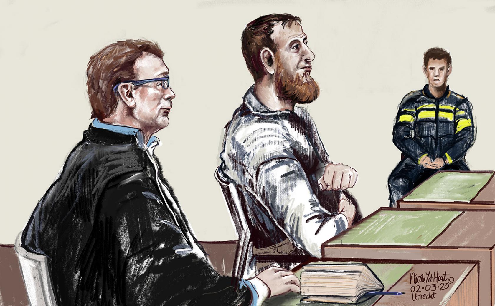 Rechtbanktekening van Gökmen T.