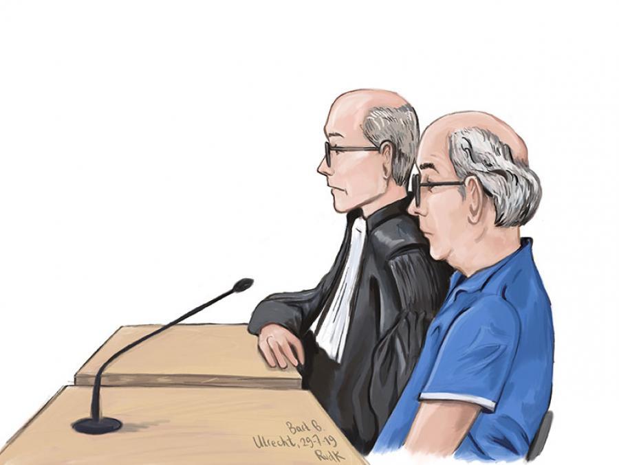Rechtbanktekening van Bart B.