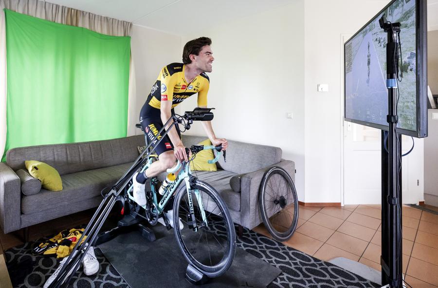 Tom Dumoulin virtuele Amstel Gold Race